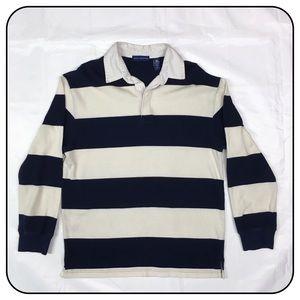 John Ashford Medium Long Sleeve Striped Polo